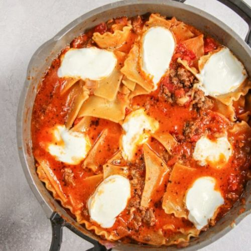 5 Ingredient Skillet Lasagna Recipe