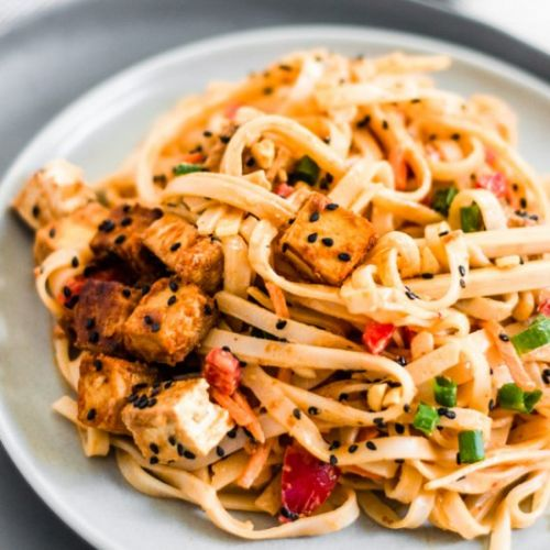 Red Curry Peanut Rice Noodles