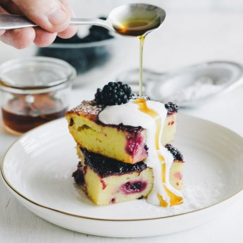 Blackberry Ricotta and Olive Oil Ba