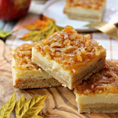 Apple Custard Bars