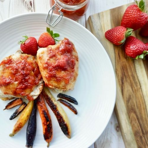 Strawberry BBQ Chicken Thighs