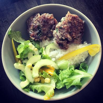 Pork Rissoles with Fresh Salad