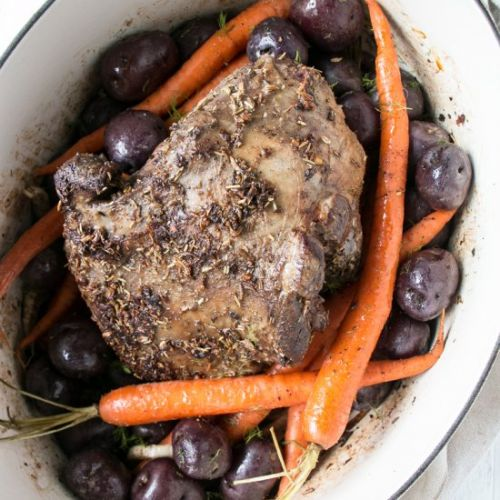 Slow Roast Leg of Lamb with Potato