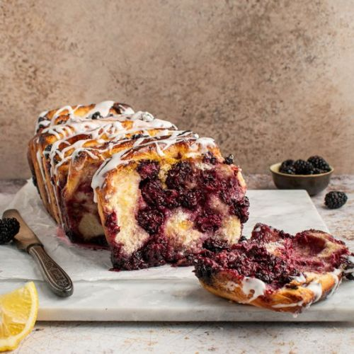 Roasted blackberry lemon bread