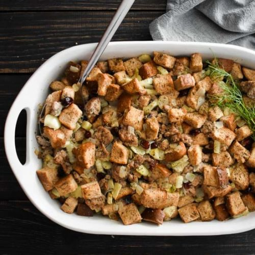 Sausage Fennel & Cranberry Stuffing