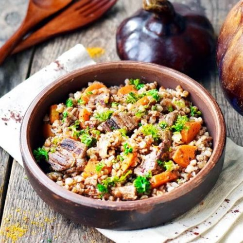 Buckwheat with Beef in a Pot