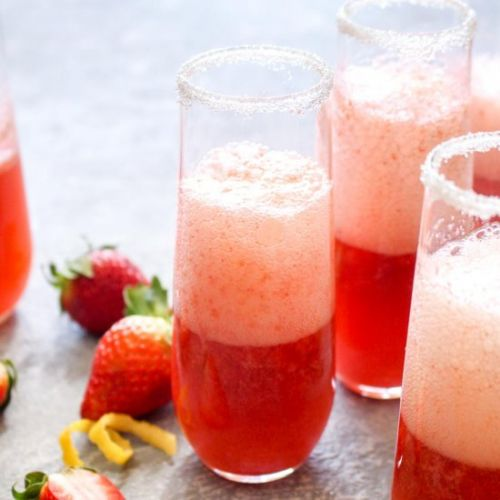 Strawberry French 75