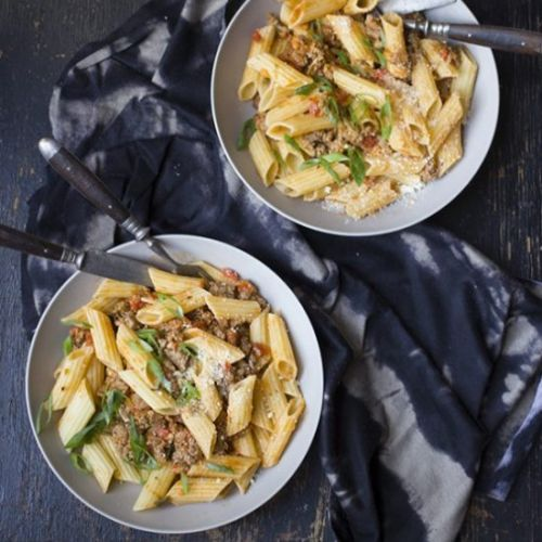 Pork Sausage and Penne Bolognese