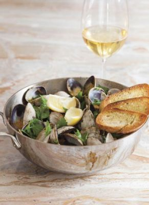 Clams and Chorizo with Cider
