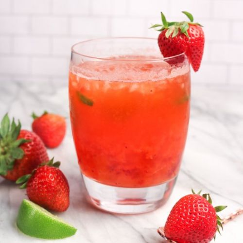 Strawberry Mint Julep Cocktail