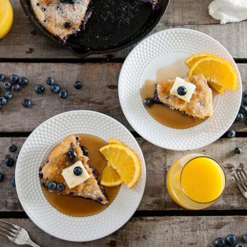 Shortcut Baked Blueberry Pancake