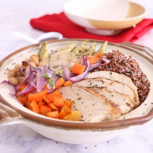 Quinoa Buddha Bowl with Tahini