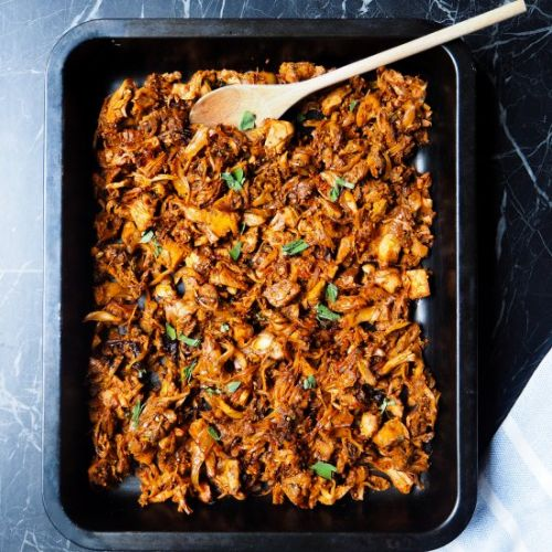 One Pan BBQ-Sage Jackfruit