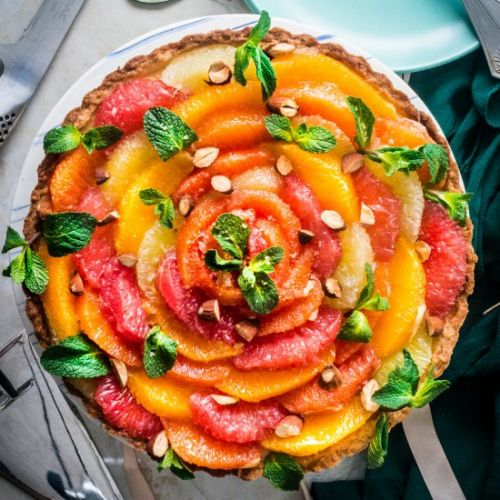 Winter Citrus Tart w/ Almond Cream
