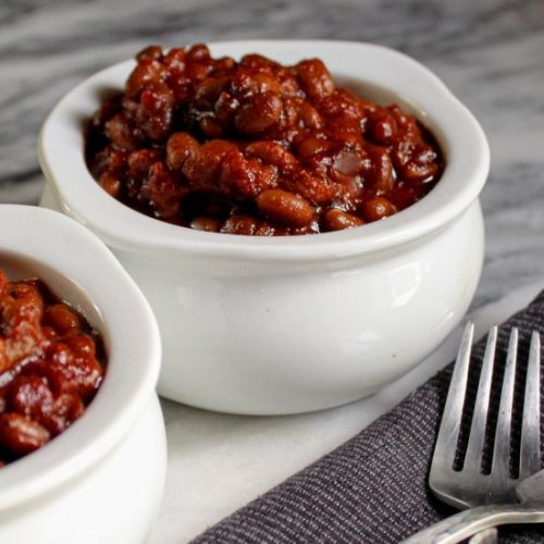 Vegan Maple Bourbon Beans