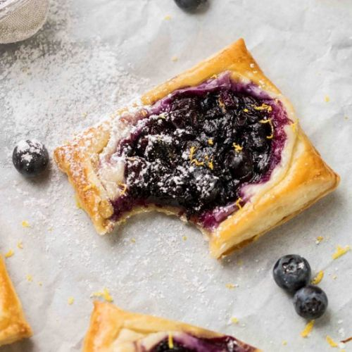 Blueberry cheese danish with puff