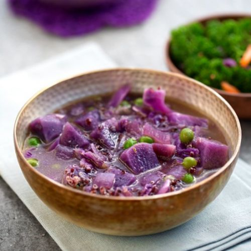 Purple Potato Rainy Day Soup