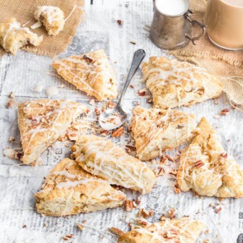 Candied Ginger Pecan Scones