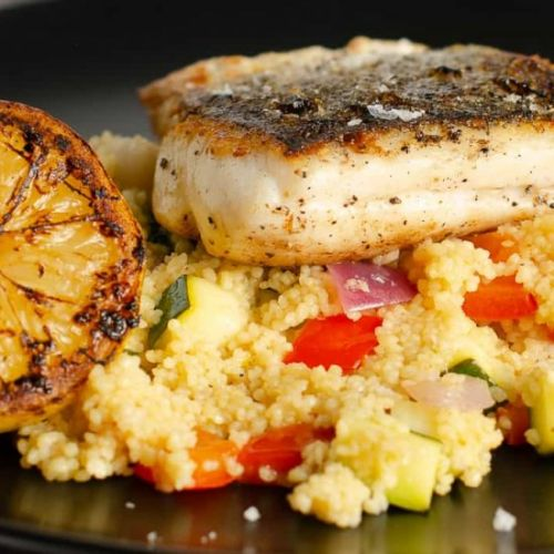 HAKE WITH LEMON COUSCOUS
