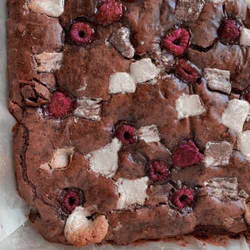 Raspberry & Halva Brownies