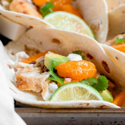Fish Tacos with Clementine Salsa