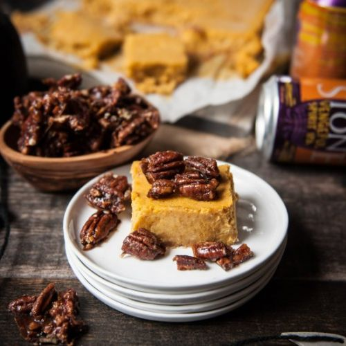 IPA Pumpkin Cheesecake Bars