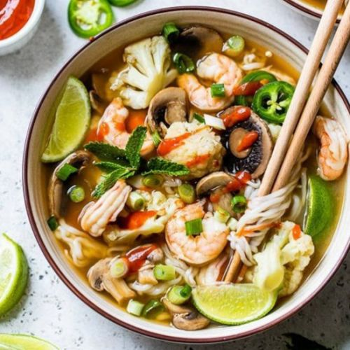 Quick Shrimp Pho with Vegetables