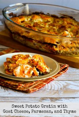 Sweet Potato Gratin with Goat Cheese, Parmesan, and Thyme - Food ...