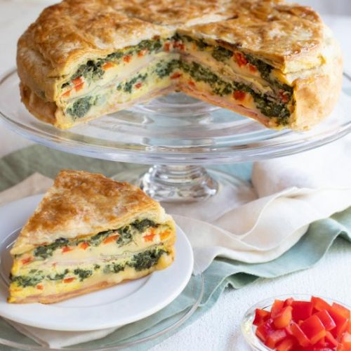Ham, Cheese and Spinach Torte
