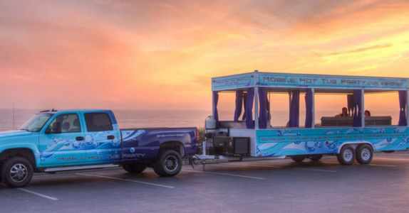 Party Like a Rockstar in this BYOB Hot Tub on Wheels