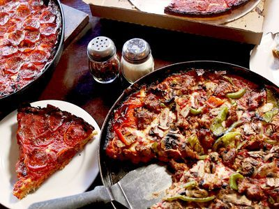 Watch: This Chicago Deep-Dish Pizza is a Crispy, Cheesy, Tangy Stunner