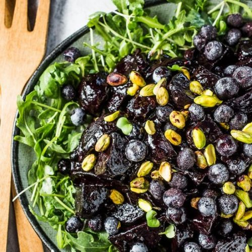 Blueberry Balsamic Glazed Beets