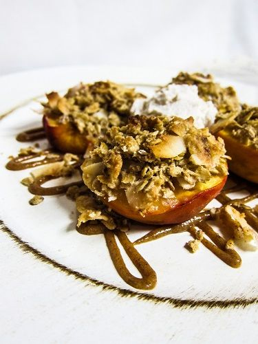 Stuffed Roasted Peaches