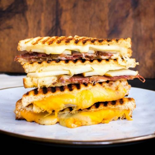 Two delicious grilled cheese sand