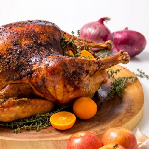 Anise and thyme roasted turkey