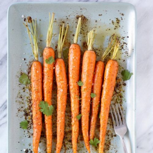 Chili Lime Roasted Carrots