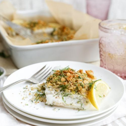 Cracker Crusted Baked Cod
