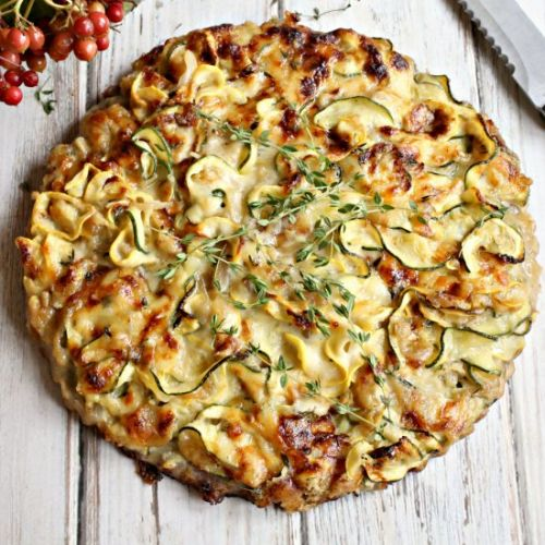 Zucchini Pie with Cheese and Walnut