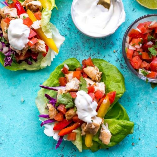 Mexican Chicken Lettuce Wraps