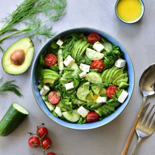Cucumber, avocado and dill salad