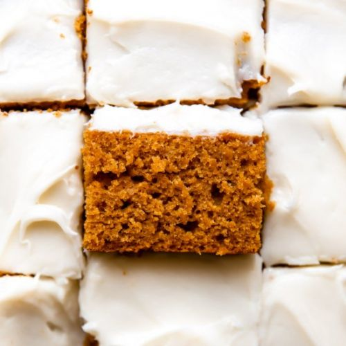 Frosted Pumpkin Sheet Cake