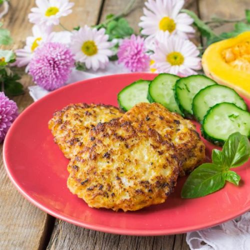 Chicken Fritters with Pumpkin