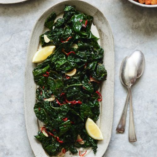 Sauteed Kale with Chiles and Lemon