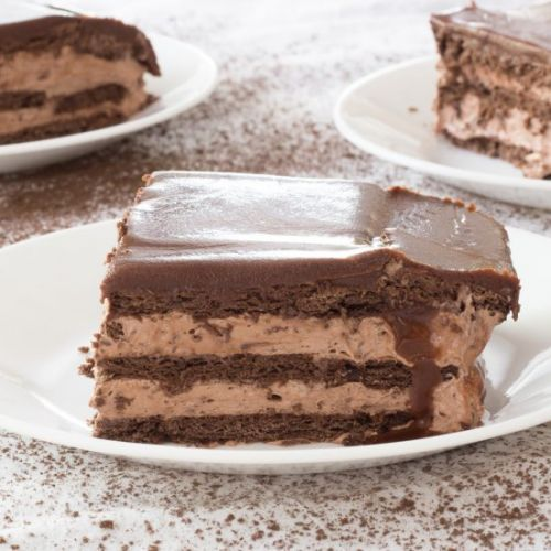 Triple Chocolate Eclair Cake