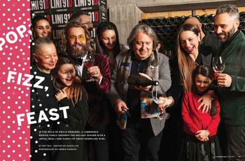 Lini Lambrusco featured in Food & Wine. Congrats to some of the best people in the biz