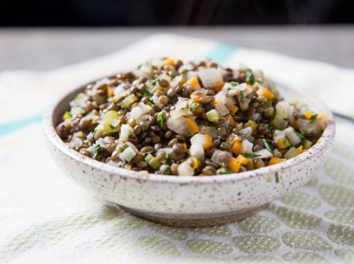 Easy French Lentils With Garlic and Herbs