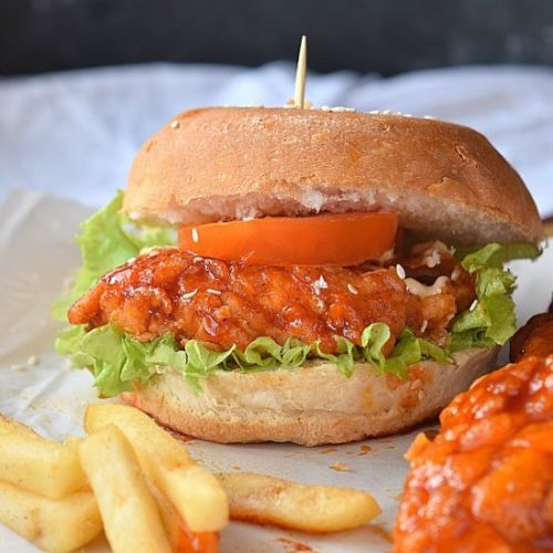 Hot Nashville Style Chicken Burger