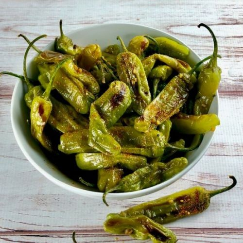 Citrus Soy Shishito Peppers