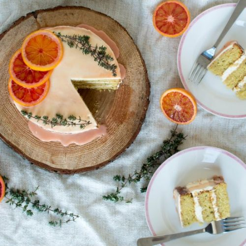 Blood Orange, Almond And Thyme Cake