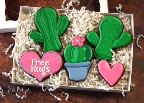 How To Make Decorated Cactus Cookies - the Anti-Valentine